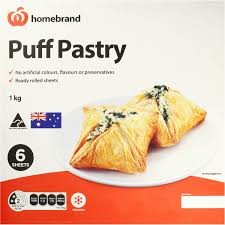 puff sheets homebrand puff pastry sheets 1kg woolworths