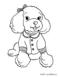 free printable dogs puppies coloring pages kids poodle