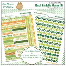 st patricks day writing paper free march planner stickers bible journaling margin strips st patrick s day vintage cards march planner kit preview3