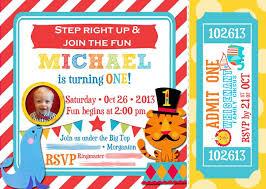 1st birthday circus invitations iidaemilia