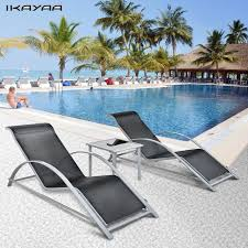 Patio Chaise Lounge Chair Aliexpress Com Buy Ikayaa Fashion 3pcs Patio Chaise Lounge Chair