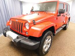 orange jeep wrangler unlimited 2014 used jeep wrangler unlimited 4wd 4dr sahara at north coast