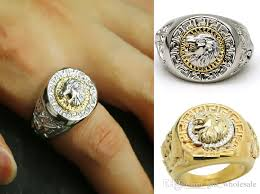 popular cheap gold rings for men buy cheap cheap gold exquisite lion 18k gp gold white k men s ring high quality