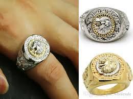 2 s ring 2017 exquisite lion 18k gp gold white k men s ring high