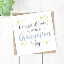 personalised congratulations on your graduation card by chi chi