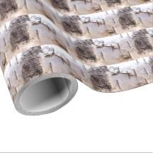 birch wrapping paper tree bark wrapping paper zazzle
