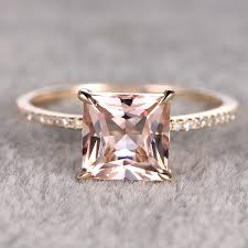 aliexpress promise rings images 2 5ct morganite engagement ring 14k yellow gold white topaz jpg