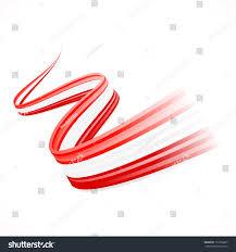 abstract waving austrian canadian denmark flag stock vector