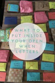 what to put inside your open when letters best friend presents