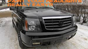 cadillac escalade headlights escalade headlights in the oven removal and paint
