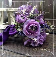 purple wedding bouquets silk flower wedding bouquet silk bouquet bridal bouquet purple