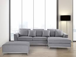 Gray Sectional Sofa With Chaise Lounge by Sectional Sofa With Ottoman L Light Gray Oslo