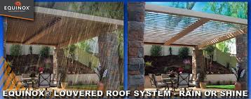 Pergola Coverings For Rain equinox louvered roof system