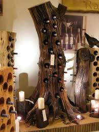 tree shop wine rack and ruin the original unique solid