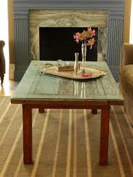 Making A Small End Table by How To Repurpose A Door Into A Coffee Table How Tos Diy