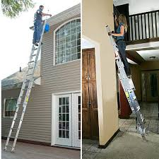 Exterior Home Repair - how to choose and use the right ladder for for safe work
