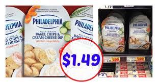 philadelphia bagel chips u0026 cream cheese only 1 49 crazy 4 smiths