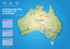 Australian Outback Map Australia By Rail The Ghan The Indian Pacific