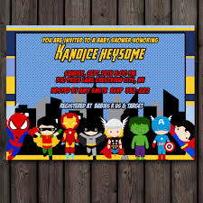 marvel baby shower amazing marvel baby shower invitations hd picture ideas for your