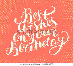 best wishes on your birthday happy stock vector 390885073