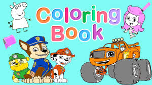 nick jr coloring book pt 1 blaze paw patrol dora and friends
