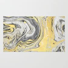 Black Gold Rug Reiko Gold Grey Black And White Minimal Marble Abstract Ink