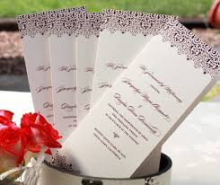 custom wedding programs custom wedding day programs letterpress wedding invitation