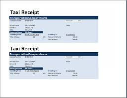 ms excel taxi receipt template receipt templates