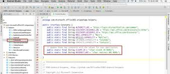 android uri office dev center office 365 code snippets for android