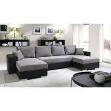 canap d angle 5 places pas cher meublesline canapé d angle convertible 5 places enno gris et noir