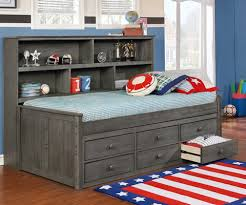 twin sideways bookcase bed rooms4kids