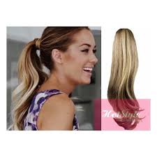 ombre hair extensions uk clip in human hair ponytail wrap hair extension 20 wavy mixed