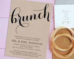 newlywed brunch invitation printable post wedding brunch