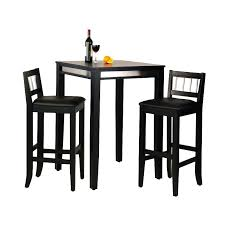 Pub Tables For Kitchen by Home Styles Manhattan Black Pub Table Set With Stainless Steel