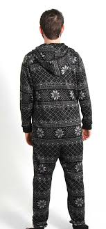 snowflake sweater bottoms out hooded onesie with fair isle snowflake pattern in