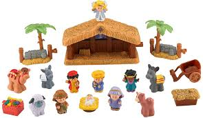 amazon com fisher price little people a christmas story toys u0026 games
