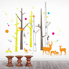 jomoval woodland creatures wall stickers wall murals you u0027ll love