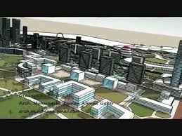 3d sketch for architecture urban design graduation project ncfc