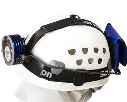caving helmet with light accessories