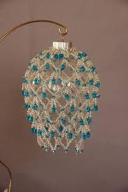 beaded fancy fringed ornament cover beading crochet pinterest