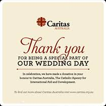 wedding gift donation to charity charitable gift donations caritas australia