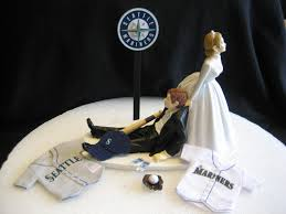 baseball wedding cake toppers modern style wedding cakes seattle with seattle mariners baseball