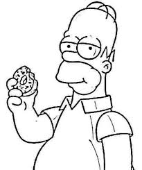 the simpsons clipart black and white pencil and in color the