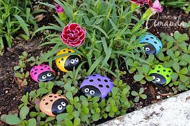 Rocks For The Garden Ladybug Painted Rocks Ladybug Rocks For The Garden