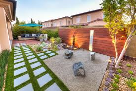 california zen rock garden with ipe wood water feature hgtv