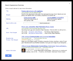 webmaster tools changes navigation adds search appearance pop up
