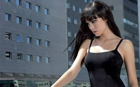 Dark Hair Light Skin Bangs Black Hair Pale Skin Women Walldevil