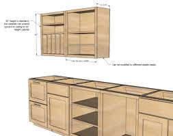 Height Kitchen Cabinets Standard Kitchen Cabinet Sizes Chart U2014 Readingworks Furniture
