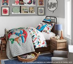 Superhero Comforter Justice League Quilt Pottery Barn Kids