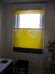 Yellow Gray Curtains Yellow And Gray Curtain For Small Window Decofurnish